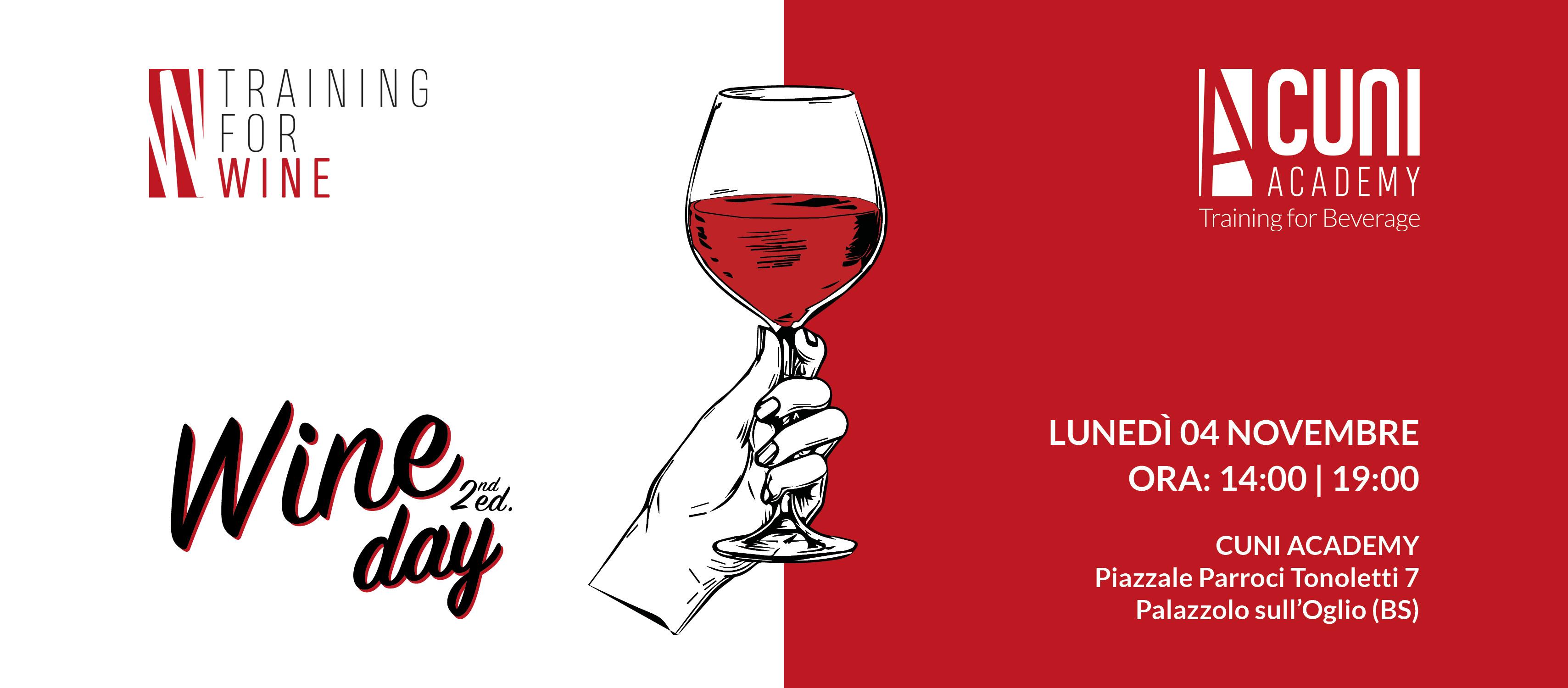 Wine Day – Seconda edizione – Lunedì 4 novembre 2019